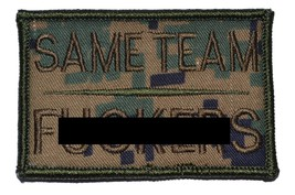 Same Team Fers 2x3 Military Patch / Morale Patch - Woodland Digital Marpat - $5.87