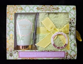 Accessory Zone Foot Lotion and Spa Socks Gift Set - Various Scents - $7.99