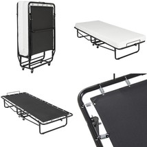 Lucid Roll-Away Bed Frame With Memory Foam Mattress Cot Twin Twin Xl Siz... - $195.69
