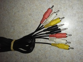 Vintage RCA Video Audio (Red Yellow White) Cable/Standard 3.5mm Audio Plug Cable - $9.88