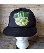 Green Day Oakland A's Cap Hat Snapback Size 58cm Mesh Trucker NOS - $43.53