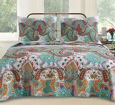 Greenland Home Nirvana Quilt Set, Twin, Teal - $120.00+