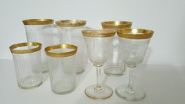 Tiffin Franciscan Antique Couples Set Possibly Minton Optic w 24K Gold T... - $49.95
