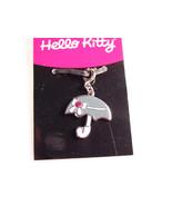Hello Kitty umbrella rhinestone pendant charm Sanrio zipper pull 2005 - $14.90