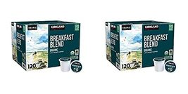 Kirkland Signature Organic Breakfast Blend Light-Roast Coffee, 120 K-Cup Pods Pa - $110.03