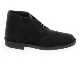 Low boot Clarks D B M SNA in navy suede leather - Men's Shoes - $159.60
