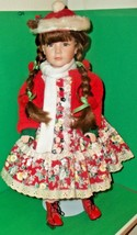NIB Kingstate the Dollcrafter Xmas Skater c1990's 18 inch stand/box vict... - $85.00