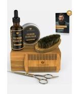 Naturenics Premium Beard Grooming Kit for Men - 100% Organic Unscented G... - $19.80