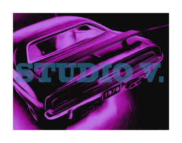 1970 Dodge Challenger Photo Art Painting Pigment Print Hahnemuhle Paper ... - $219.00
