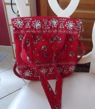Vera Bradley small Villager tote in retired Red Bandana Pattern - $35.00