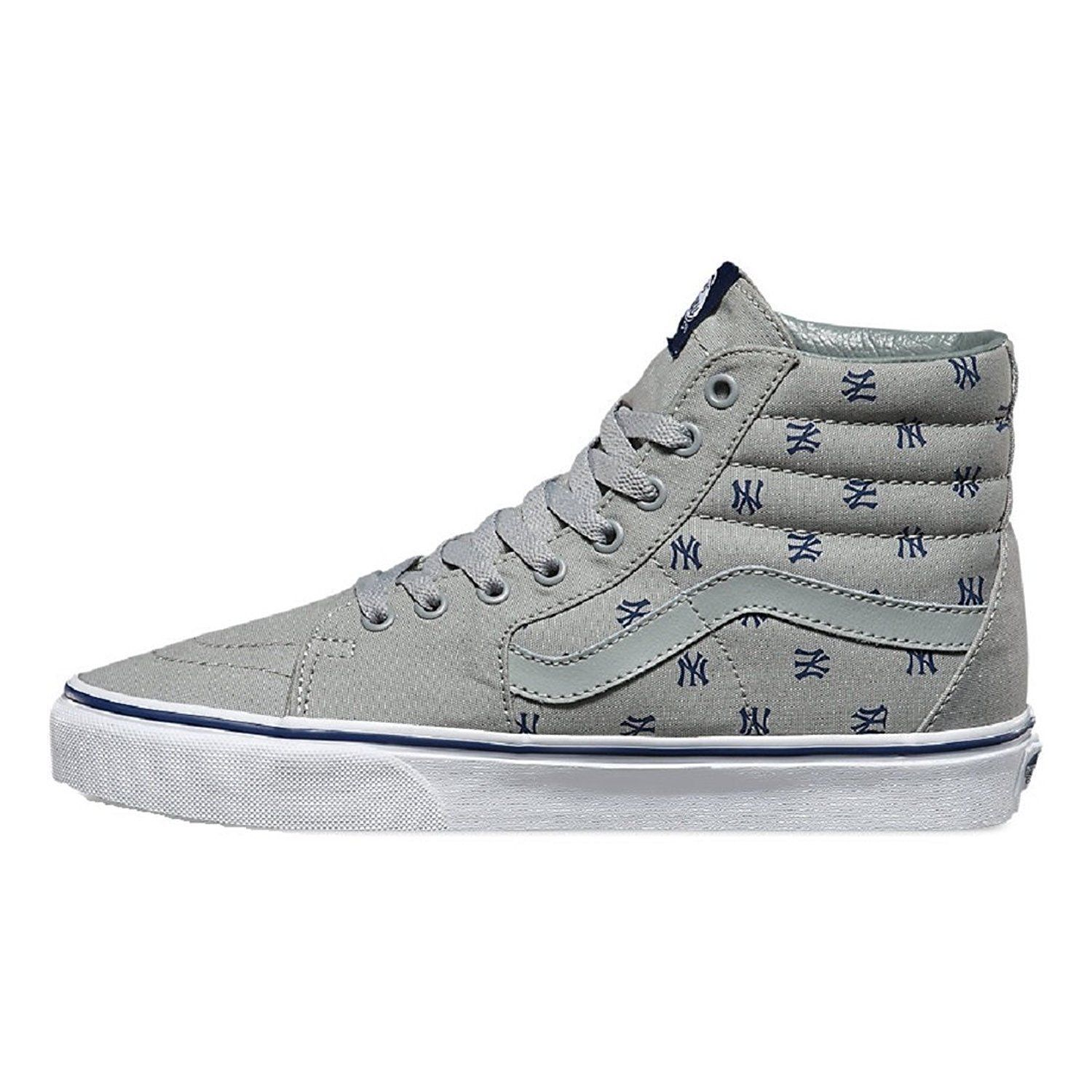 4a28d4e52e127a New Vans SK8 HI MLB New York Yankees Gray Mens size 6.5 Womens 8 NIB