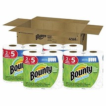 Bounty Quick-Size Paper Towels, White, 8 Family Rolls = 20 Regular Rolls - $25.02