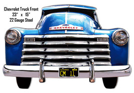 Reproduction Chevy Truck Front Garage Shop Laser Cut Out Metal Sign 15x23 - $39.60