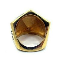 Han Cholo Silver Gold Plated Surgical Stainless Steel His/Her D20 Dice Ring NEW image 4
