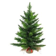 """24"""" Mini Artificial Balsam Pine Christmas Tree in Burlap Base - $35.95"""