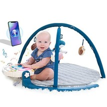 ANGELBLISS Activity Gym Baby Play Mat with Music and Detachable Piano with Bluto