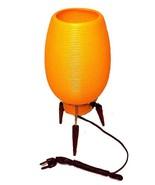 Vintage 60s Orange Plastic Tripod Beehive Lamp Retro Mid Century Danish ... - $29.95
