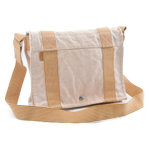 HERMES Ale Line Vasus PM Canvas Shoulder Bag Auth 3267