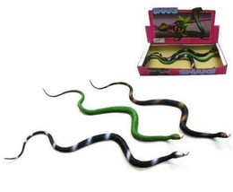 6 asst LARGE 30 IN RUBBER SNAKES realistic fake play snake TOY REPTILE N... - $11.69
