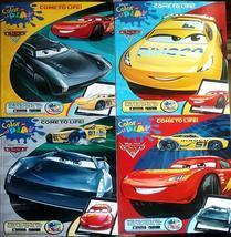 4 Disney Bundle Pixar Cars Coloring Book Set McQueen - Cruz - Storm - Ru... - $15.99