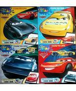 4 Disney Bundle Pixar Cars Coloring Book Set McQueen - Cruz - Storm - Ru... - $15.99