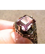 FILIGREE RING 7 SILVER 925 RUSSIAN ALEXANDRITE color change emerald cut ... - $69.95
