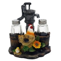 DWK Old Water Pump Up the Spice Hen Chick Salt & Pepper Shaker Figurine ... - $10.99