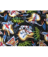 Cotton Fabric by the yard VR Troopers Saban's Super Heroes - pants, shor... - $5.94