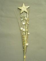 "3 Pcs Star Gold Stars Onion Grass Spray Metallic Pick Decoration 24"" Long - $7.91"