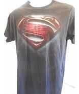 DC Comics Superman Man of Steel Men's Women's Comic Con black t-shirt sz L - $19.95
