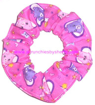 Care Bears Hair Scrunchie Fabric Scrunchies by Sherry Ties Ponytail Holders New - $6.99+
