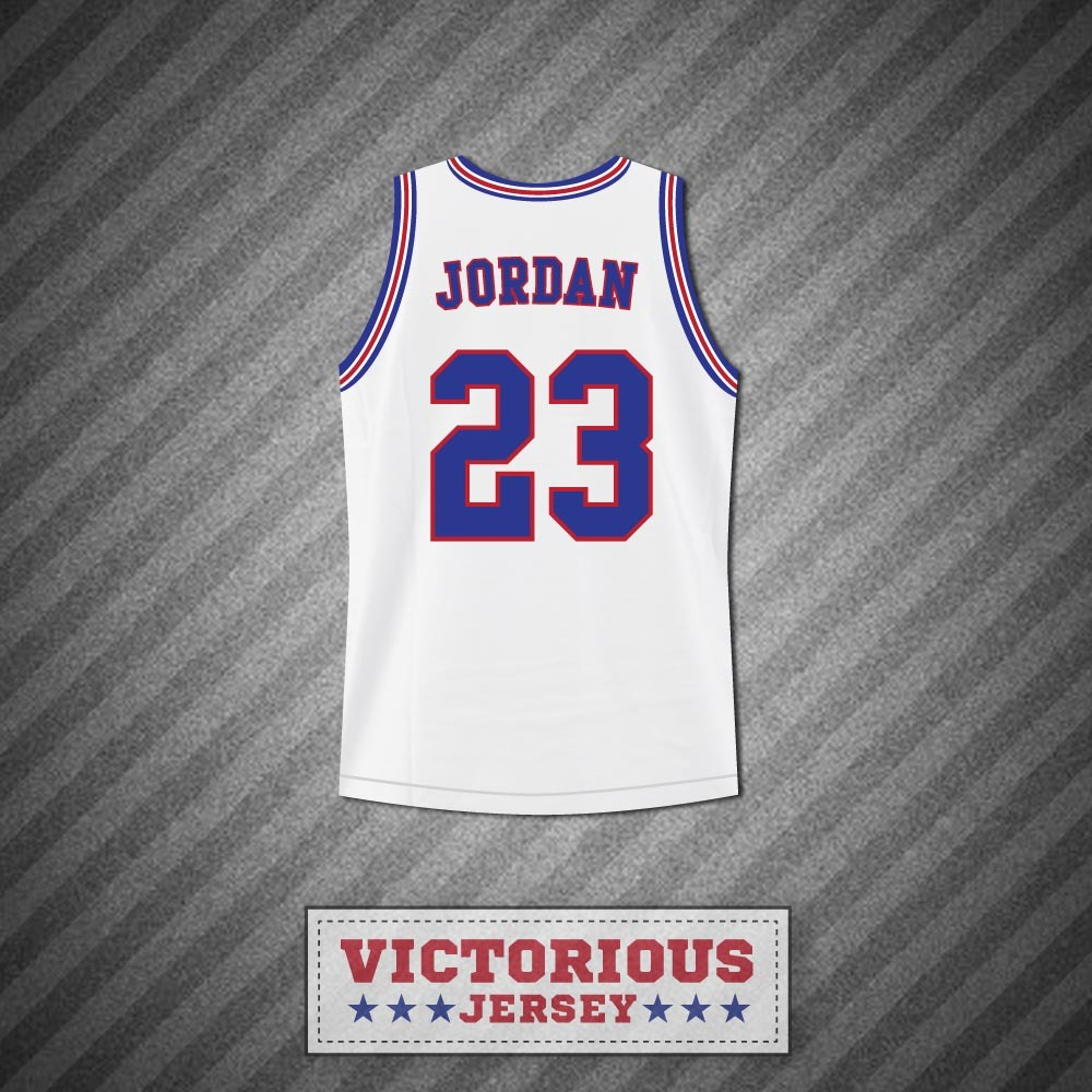 michael jordan 23 space jam tune squad white basketball jersey any number athletic apparel. Black Bedroom Furniture Sets. Home Design Ideas