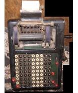 "AWESOME Antique 1911 Vintage 9 Column Adding Machine ""The Barrett"" w/Han... - $125.88"