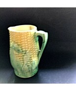 Small Antique Majolica Corn Creamer or Pitcher AS IS - $11.99