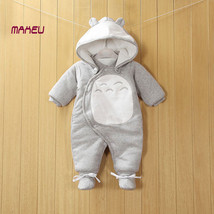 Newborn Baby Cotton One-piece Thick Hooded Baby Warm Winter Clothes Romper - $31.91 CAD+