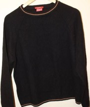 Report Cashmere Black Long Sleeve Men Sweater Medium - $46.74