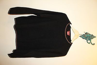 Report Cashmere Black Long Sleeve Men Sweater Medium