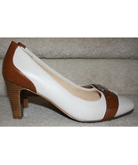 Cole Haan White Tan Leather NWOB New Buckle Pumps 10B Women's Heels Nike... - $99.99
