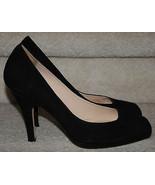 Cole Haan Black Suede Square Closed Toe Pumps 10B Women's Heels Nike Air - $99.99