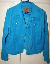 Ralph Lauren Jeans Company Womens Turquoise Corduroy Jacket Size Medium Cropped - $49.99