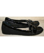 Ellen Tracy Black Reptile Suede Loafer Driving Moccasin $79 Size 7M Note... - $24.99