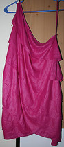 BCGB MaxAzria Pink Flair One Shoulder Tiered Dress Ruffle Size Small Hot Fuschia - $39.99