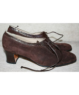 Salvatore Ferragamo Brown Suede Leather Lace Loafer Heels Narrow 7.5AAAA... - $39.99
