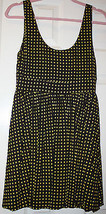 Alice + Olivia Scoop Brown Yellow Polka Dot Sleeveless Shift Dress Mediu... - $69.99