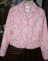 Ann Taylor Loft Women's Pink Cream Black Floral Jacket Blazer Size 4 Gorgeous - $49.99
