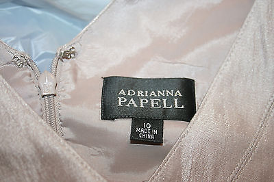 Adrianna Papell GORGEOUS Chiffon Tiered Cocktail Party Dress Size 10 Shimmery
