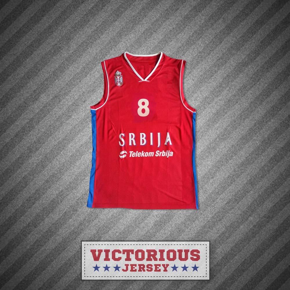 brand new b9187 c881f Nemanja Bjelica 8 Serbia Basketball Jersey and similar items