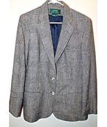Lauren By  Ralph Lauren 100% Linen Houndstooth Blazer Ladies Lined Made ... - $46.39