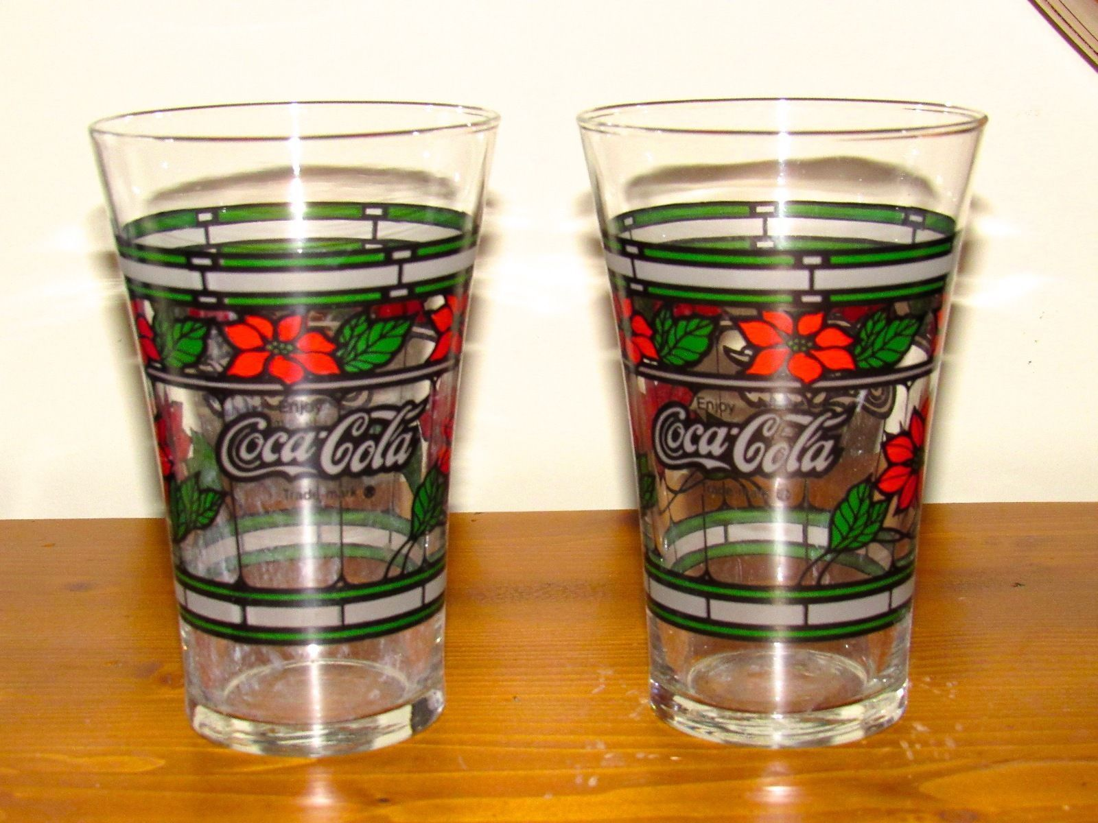 Coca Cola Stained Glass Christmas Holiday Tiffany Style