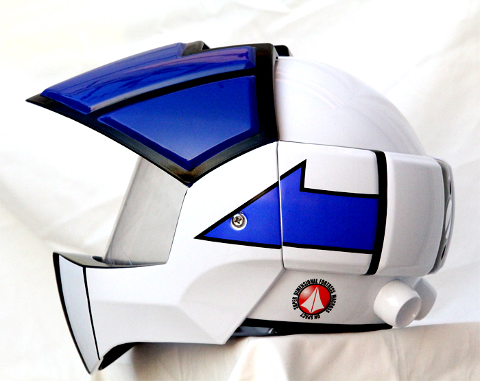 Masei 911 Macross Xcross Blue White Motorcycle Helmet